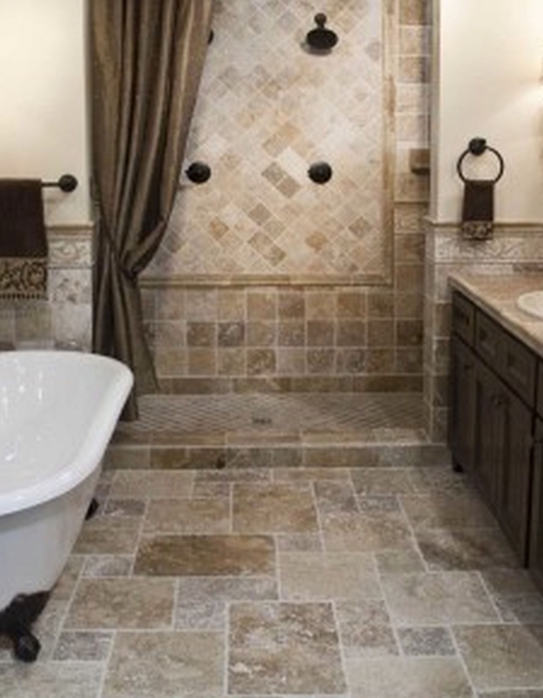 Interior Soft Brown Marble Bathroom Tile Wall Connected Glass throughout small bathroom beige for Your house